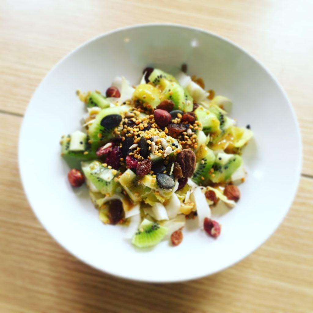 salade endives kiwis pollen